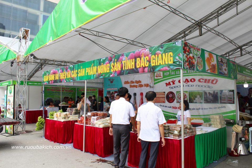 gian hàng tỉnh Bắc Giang