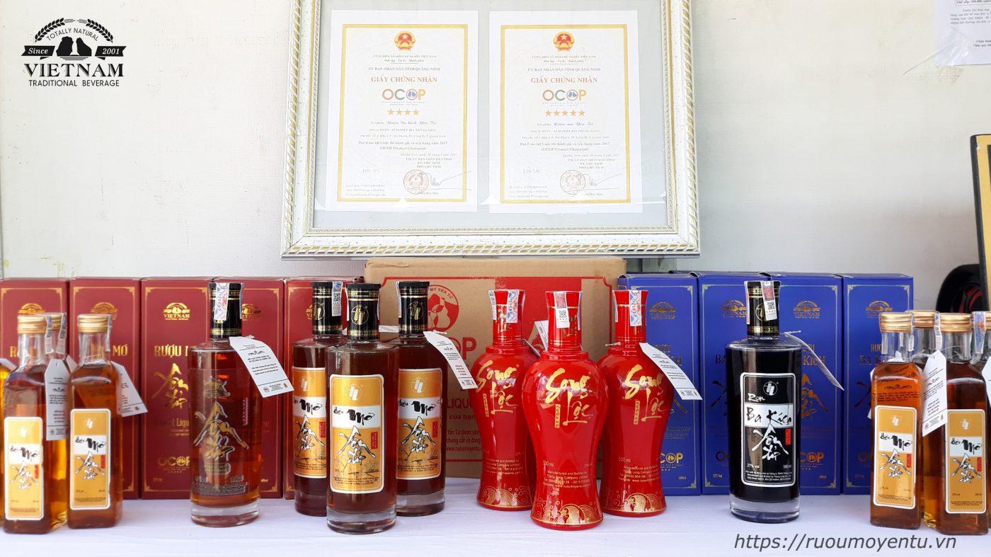 Rượu Yên Tử tại Liên hoan ẩm thực Quảng Ninh 2020