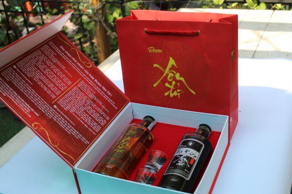 hộp quà tặng rượu Yên Tử