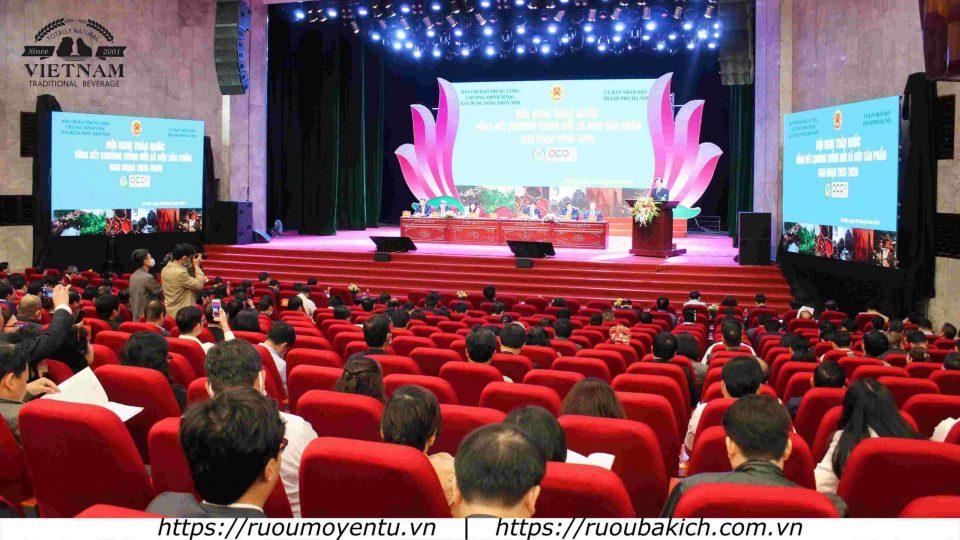 Hội nghị Tổng kết OCOP cấp Quốc Gia có sự tham gia của các đại biểu tới từ các bộ ban ngành Chính phủ
